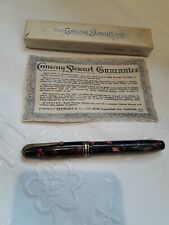 More details for vintage conway stewart no 58 marbled fountain pen 14ct gold nib