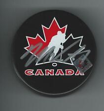 Mark VISENTIN Signed TEAM CANADA World Juniors Puck