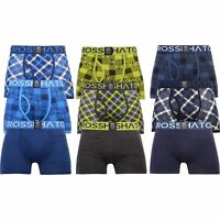 3 Pack Mens Crosshatch Check Printed Boxer Shorts Boxers Underwear Trunks Gift