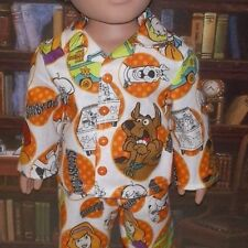 "Scooby-Doo! dog 2 pc pajamas fits 18"" American Girl and boy doll"
