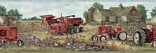 Oakley Red Countryside Tractor Easy Walls Wallpaper Border CTR63161B