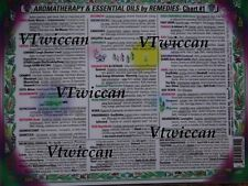 Aromatherapy Oil Chart #1 2-Sided Laminated Wiccan Pagan Metaphysical Reference