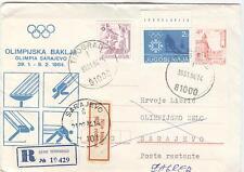 Jugoslavia Olympische Spiele Olympic Games 1984 Torchrelay Titograd to Sarajevo