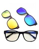 Occhiali  con vetri / lenti intercambiabili tra 3 diversi colori