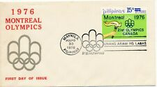 1976 Olympic Games Montreal, FDC Manilla.