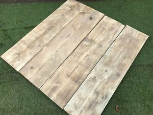 Reclaimed Rustic Sanded Pine Boards Pack Of 4 300mm X 225mm Shelves Home Decor