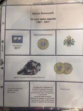 Repubblica di San Marino FOGLIO AGGIORNAMENTO X LA 5 euro 2017 MARCO SIMONCELLI