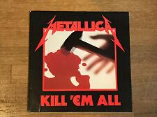 Metallica LP - Kill 'Em All - Megaforce MRI 069 1983 - Original Silver Label