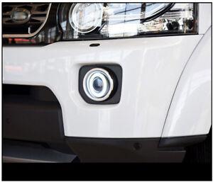 For Land Rover discovery 4 2014-2016 COB Angel Eyes Clear Lens k Fog Lights Kit