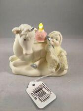 Snowbabies Figurine, Department 56, Happy As Unicorn Eating Cake, Orig Box, 2018