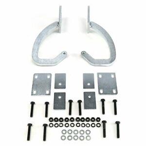 Universal Paintable / White Zinc Plated Trunk Hinge Kit AutoLoc AUTTRH truck