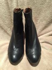 Zara Collection Black Leather Boots Size 37