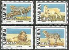 Namibia - Einheimische Großkatzen Satz postfrisch 1998 Mi. 927-930
