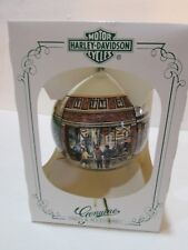VINTAGE 1989 HARLEY DAVIDSON HOME FOR THE HOLIDAYS LE SERIES F ORNAMENT NEW NIB