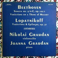 Graudan Beethoven Cello Sonata 4 Lopatkinoff Variations & Epilogue Orion LP rare