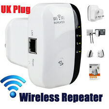 UK Plug 300Mbps Wireless N 802.11 Repeater Wifi Range Booster Extender Bridge AP
