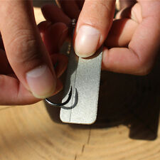 EDC Pocket Diamond stone Steel Sharpener Keychain for Knife Fish Hook ZP