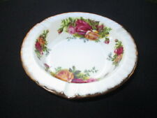 OLD COUNTRY ROSES ROYAL ALBERT CHEESE BALL DISH KNIFE RESTS
