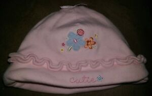 Carter's Girls Pink Multi Color Floral Cutie Hat Cap Size 3 to 9 Month