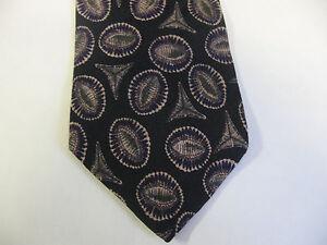 58 x 4 Black Beige Geometric Necktie Tie  (7088)