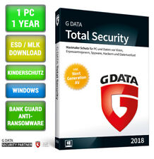 G DATA Total Security 2018 1 PC 1 Jahr GDATA Protection