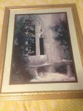 Large Homco Interior Picture,Doves Courtyard, By Birkenstock Gold Frame
