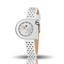 LIP Watch 671112 Women's Mach 2000 Mini Leather Strap White Made in France