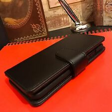 Genuine Real Italian Leather Black Book Case Designer Wallet  iPhone 6& 6S