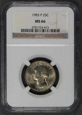1983-P 25c CLAD WASHINGTON QUARTER *NGC MS 66* LOT#Q158