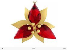 SWAROVSKI Poinsettia Ornament, Gld Tone