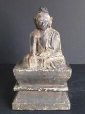 ANTIQUE Bouddha en Bois de Mandalay BIRMANIE