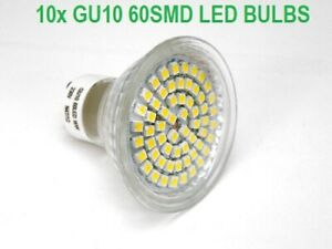 10x GU10 Warm White 3W 60 SMD LED BULB Lamp Ceiling Home Lighting Energy Saving