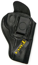 BLACK LEATHER INSIDE PANTS IWB CCW HOLSTER w/ COMFORT TAB - RUGER GP100 REVOLVER