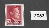 #2063     MNH 1941 stamp 24 Gr / Adolph Hitler /  Occupied Poland / Third Reich