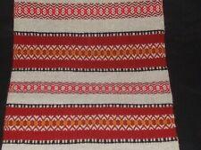 Vintage Scandinavian runner christmas  wool runner with fringes