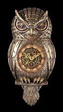 Wall Clock - Steampunk Owl - Veronese Watch Gothic Bird