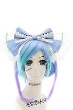 LH-01-03 Blau Riesen XXL Schleife Gothic Lolita Haarreif Headband Cosplay Maid