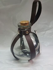Potion Bottle Round Glass Bottle with Holder Witches Wizards Steampunk Cosplay