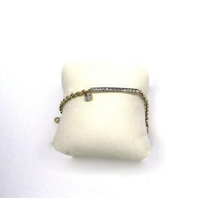 DIAMOND CUT 14K YELLOW  WHITE GOLD  HANDMADE BRACELET WITH HEART NIB # J527