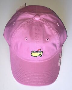 Masters golf hat pink ladies fit 2021 masters american needle pga new