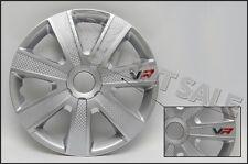4 Stück Radkappen 13 Zoll VR Silver Silber Carbon Tuning