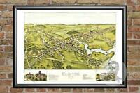 Old Map of Clinton, CT from 1881 - Vintage Connecticut Art, Historic Decor