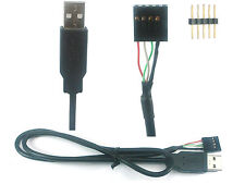 USB A plug to internal 4/5 pin header cable / adaptor (male or female)