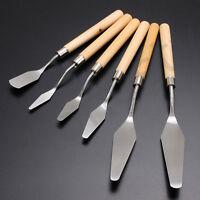 6 Styles Professional Artist Oil Painting Palette Steel Knife Spatula Paint Art