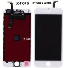 Lot of 5 LCD Display Touch Digitizer Screen Assembly for iPhone 6 Plus White