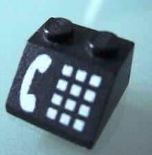 LEGO 3039p12 @@ Slope 45 2 x 2 Phone White Pattern @ 2150 4554 4555 6549 9356