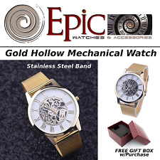 EPIC TIME- Fashion Stainless Steel Mechanical Watch- Hollow Analog