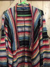 Ralph Lauren Polo Shawl Cardigan Multi-Color Sweater Woman's Large