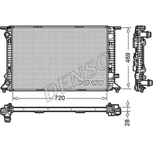 Denso Engine Cooling Radiator - DRM02022 - Single