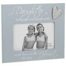 Daughter Grey Photo Frame With Sentiment and Raised Heart Gift 271445